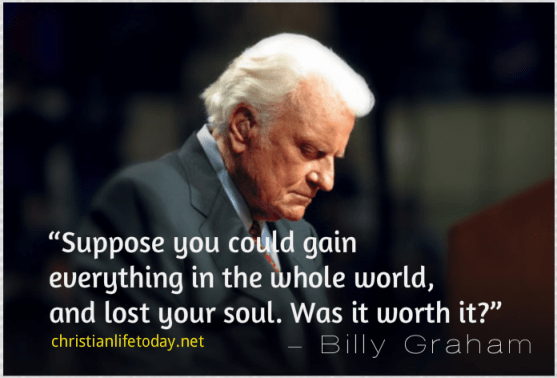 Billy Graham Quote soul