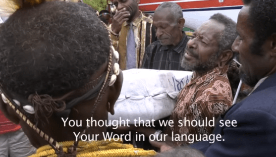 Kimyal Tribe receives the Bible for the First Time translated