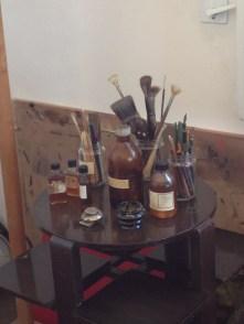 Dali's tools in his actual studio.