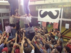 I went to a Human Castellars practice where I got to be part o the human towers!