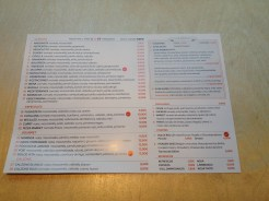 The menu. A little pricey but cheap compared to other places and the ingredients are all natural!