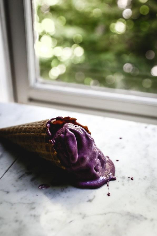 Blackberry Olive Oil Ice Cream | by Christiann Koepke of Christiannkoepke.com-9