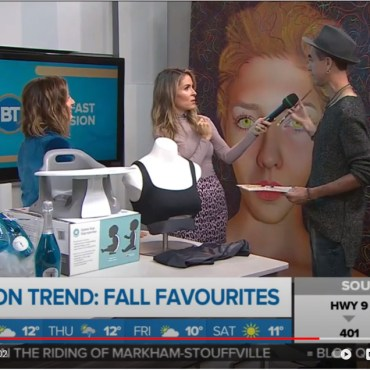 Christiano De Araujo was painting live on Breakfast Television (BT) – Rogers Media's television network Citytv. – Click on the image to watch it!