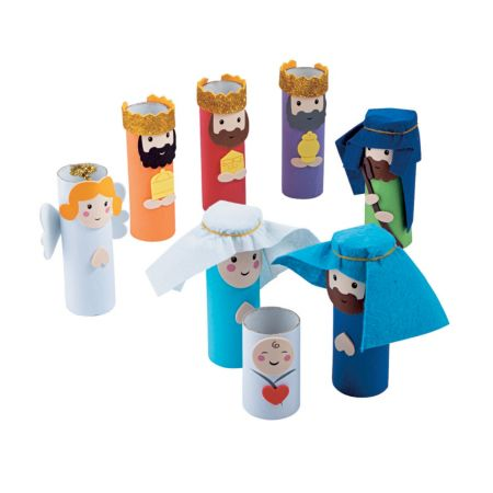 Sunday school Christmas Nativity scene crafts