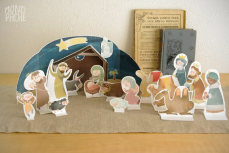 Printable Nativity scene craft