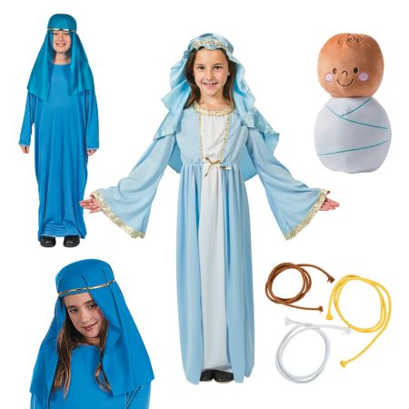 religious Mary costumes props kids