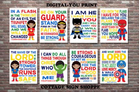 Download Christian Superhero Kids art prints