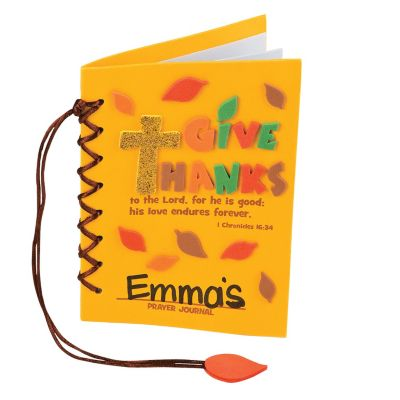 DIY Thanksgiving prayer journal craft kit