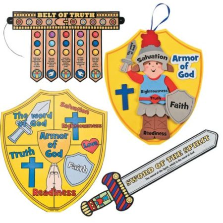 Full Armor of God Bible story crafts
