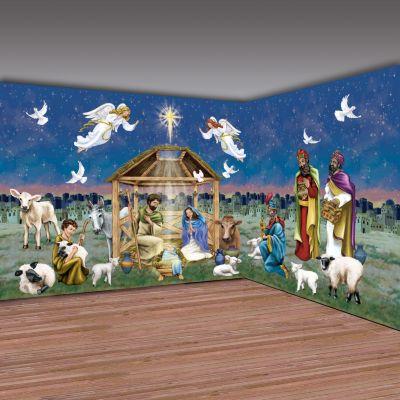 Nativity Christmas play scene setter props