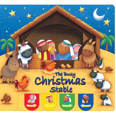 religious Christmas stable book