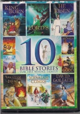 10 Animated Christian cartoons DVD