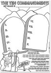 Ten Commandments craft poster