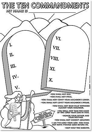 Ten Commandments craft poster