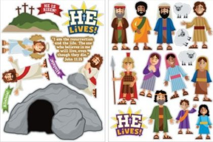 25 Church Sunday school Easter wall stickers decals