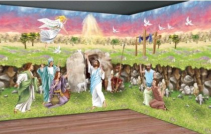 Church Easter Pageant Resurrection scene setter
