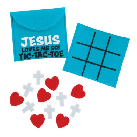 Christian Valentines Day tic tac toe came