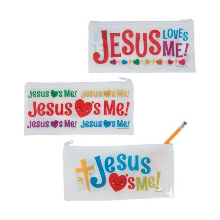 Jesus Loves you Sunday school pencil bag giveaways