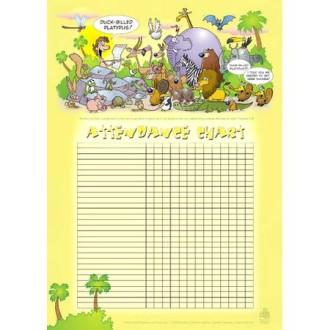Sunday school class attendance chart