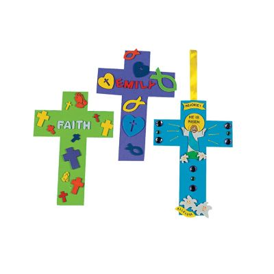 24 Easter Foam cross shapes
