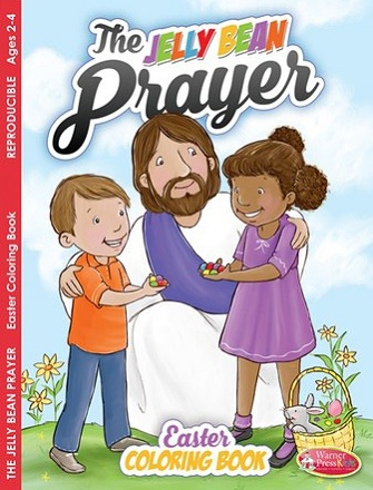 Easter Jelly Bean Prayer activity coloring book