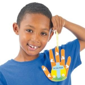Easter Jesus is Risen Handprint crafts