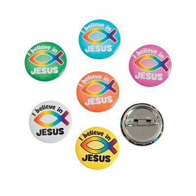 Jesus Christian mini button pins