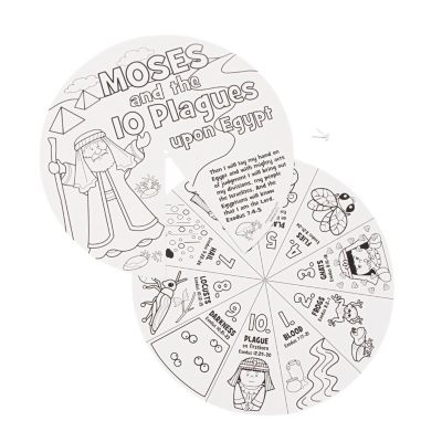 Color 10 Egypt Plagues story wheel craft