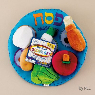 Plush Passover Seder Plate and food playset