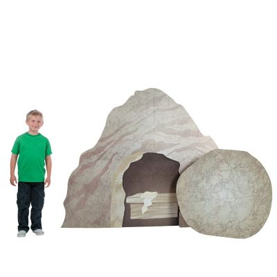 Cardboard Empty Tomb of Christian standing cardboard decor