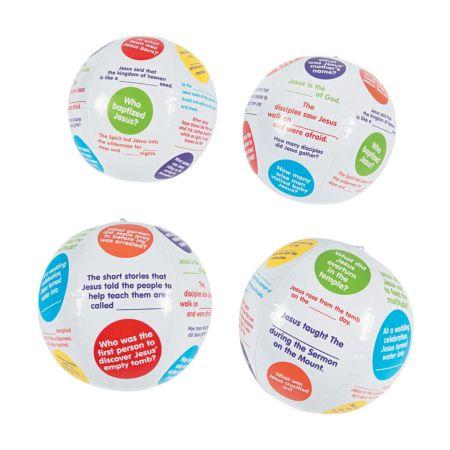 Religious printed beach ball prizes