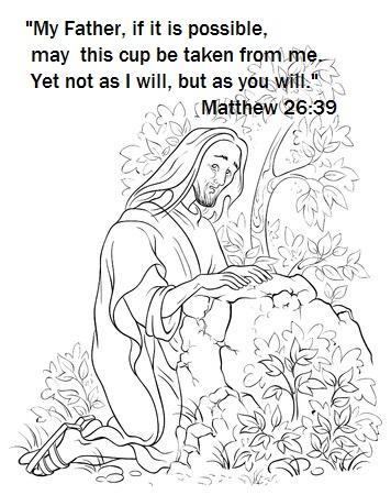 Jesus praying Garden Gethsemane illustration