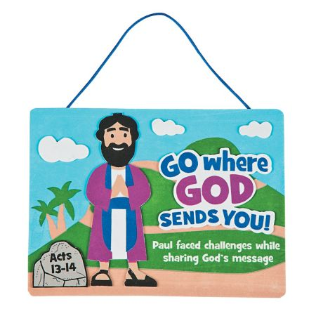God sends Disciple Paul sign craft
