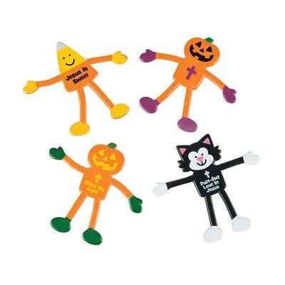 Religious Halloween bendable toy bundle