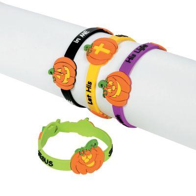 Halloween pumpkin prayer braclets