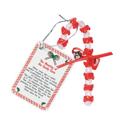 Religious candy cane meaning ornament crafts