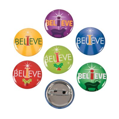 48 I believe in Christmas buttons
