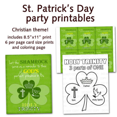 Christian St patircks day party supplies download