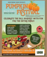 Fall Harvest Festival Personalized Flyer Poster