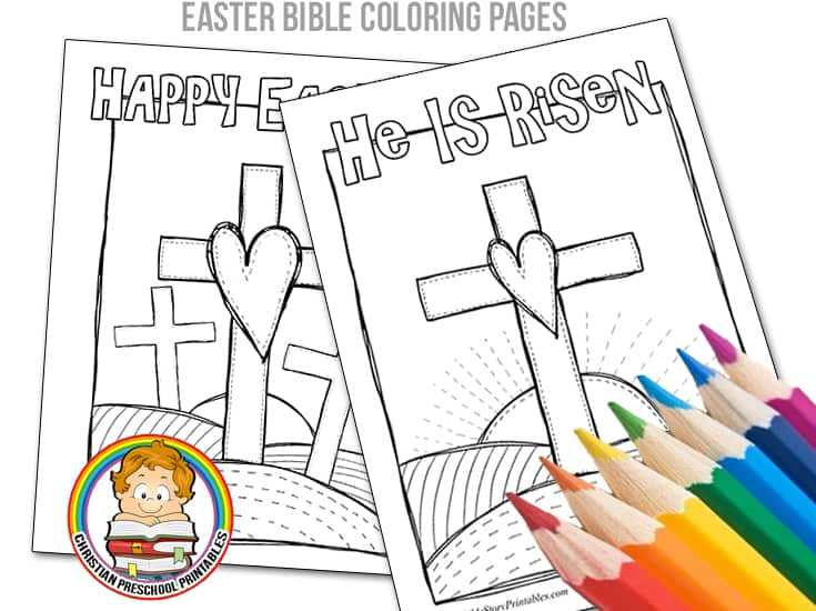 Easter Bible Coloring Pages Christian Preschool Printables