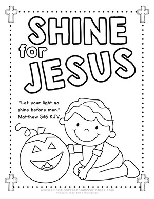 Let Your Light Shine Coloring Page Coloring Pages