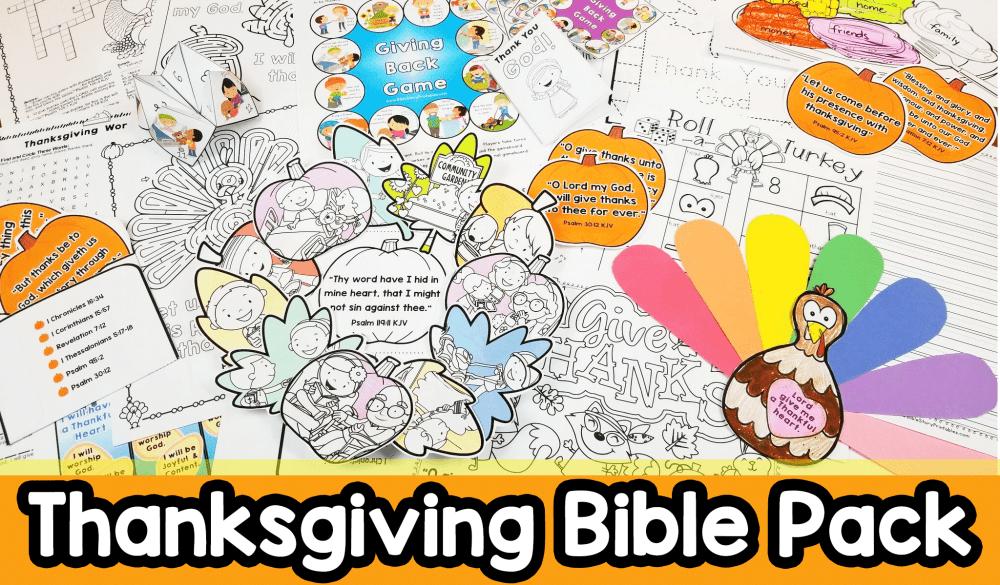 medium resolution of Thanksgiving Bible Printables \u0026 Crafts - Christian Preschool Printables