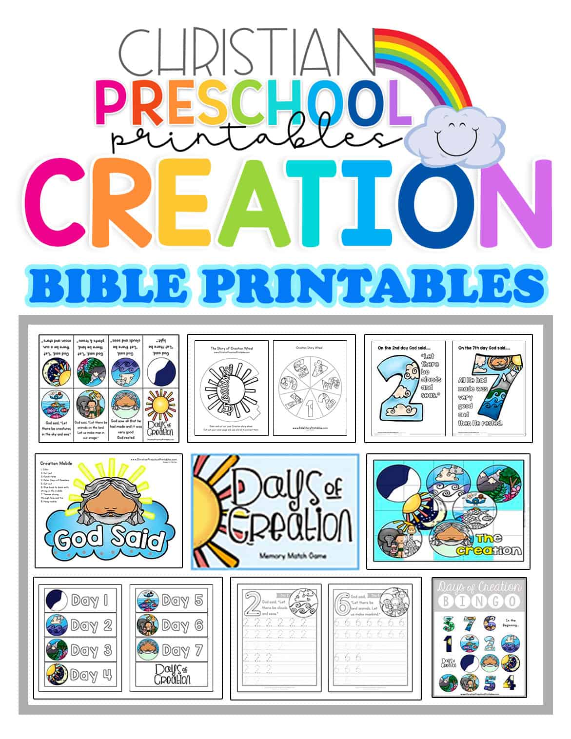Creationbibleprintables
