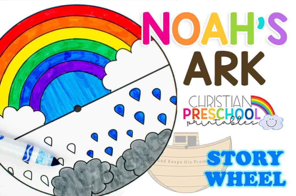 Noah S Ark Craft Spinner For Kids Christian Preschool Printables