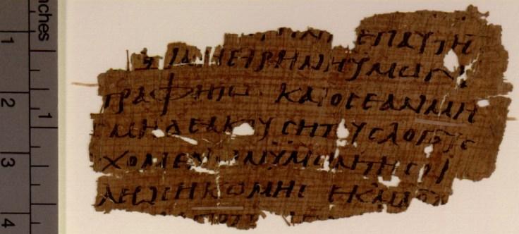 POxy.4494 Papyrus 110 (P110) Recto