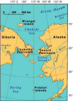 Proximity of Russia to Alaska