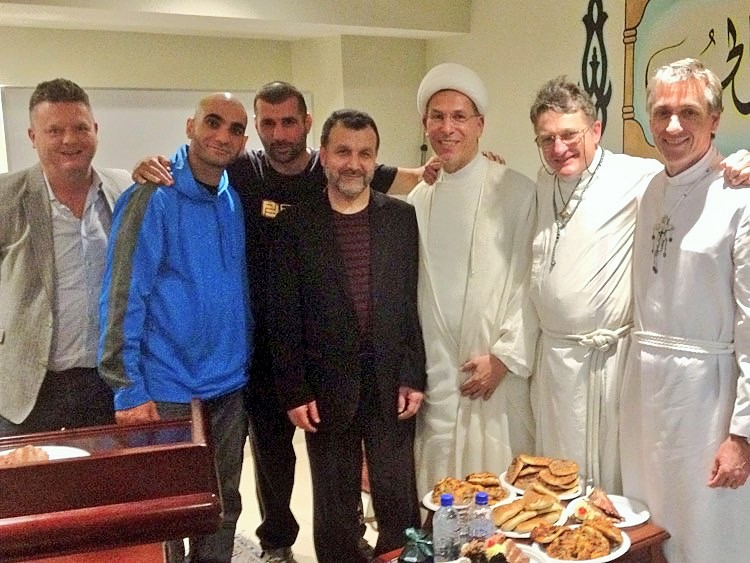 Christians and Muslims in fellowship at the Arrahman Mosque in Kingsgrove (Sydney)