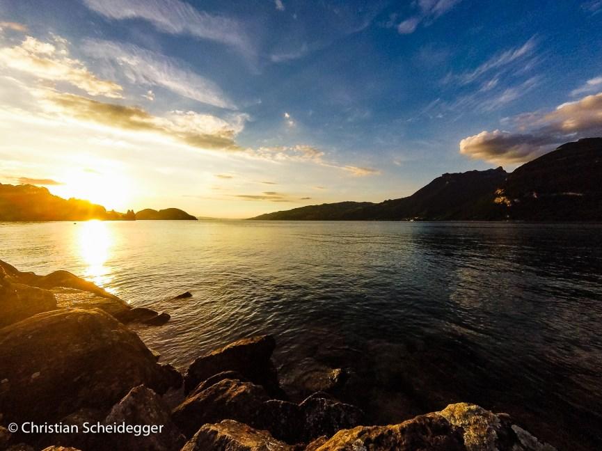 Evening at Lake Thun