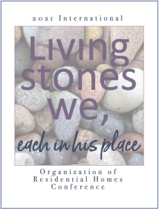 """ORH 2021 Conference logo - """"Living Stones We, Each in His Place"""""""
