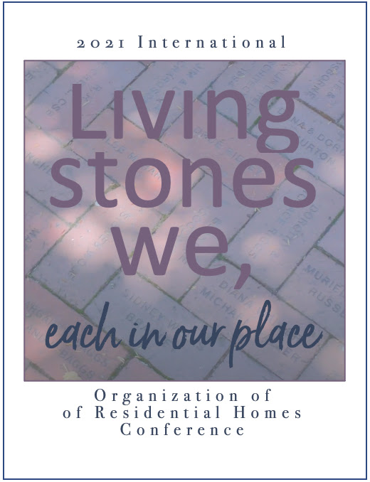 """ORH 2021 Conference logo - """"Living Stones We, Each in Our Place"""""""